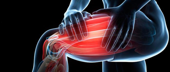 figura con una gamba affetta dolori muscolari