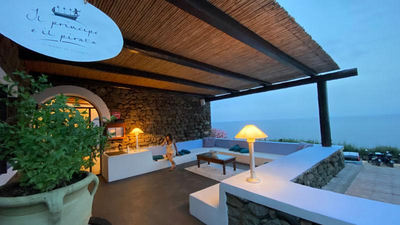 terrazzo panoramico di un ristorante